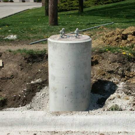 Light post bases darnall concrete post base installation complete standard style mozeypictures Images